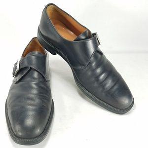 Salvatore Ferragamo Mens Leather Monk Loafer Shoes